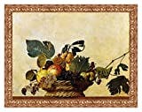 Lux Quadro Stampa su Tela Caravaggio Canestra di Frutta con...