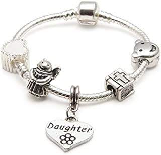 Liberty Charms Childrens/Girls Baby Christening Keepsake for Daughter Silver Plated Charm/Bead Bracelet.