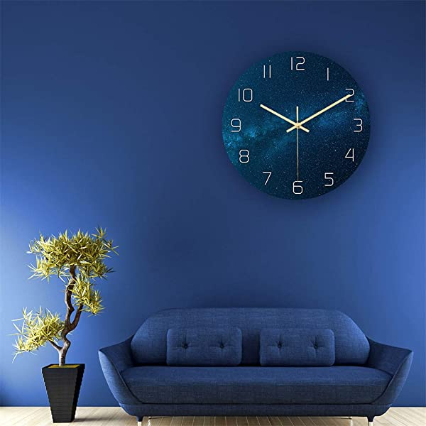 Huangou Wall Clock 3D Large Black Hole Photo Wall Clock Removable Glow In The Dark Clocks C 11 8in