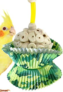 Bonka Bird Toys Smiley Heart Camo Cup Cake Foraging Parrot cage Cockatiel African Grey