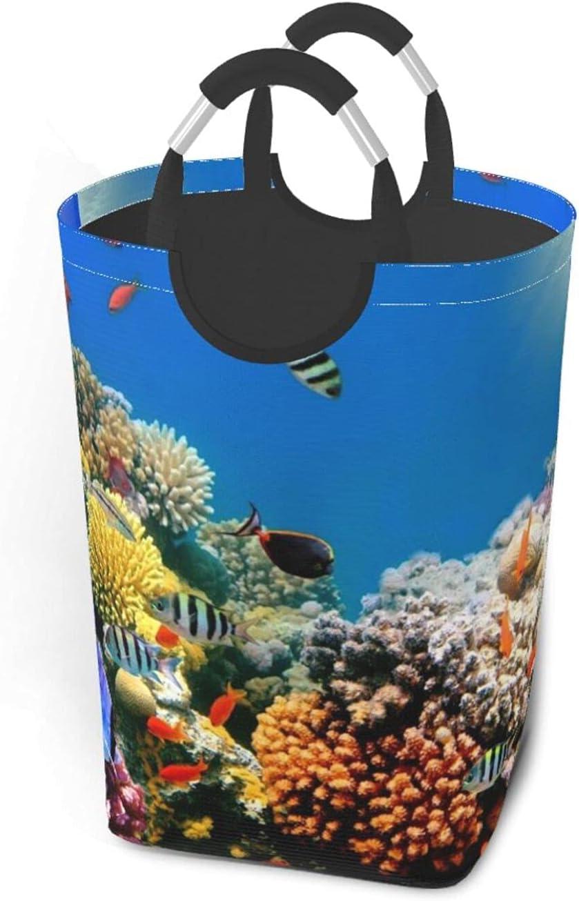 overseas SummerWea1 Tropical Fish Elegant Coral Reef Waterproof H Laundry Durable