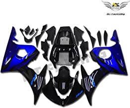 NT FAIRING Blue Black Flames Injection Mold Fairing Fit for Yamaha YZF 2003-2005 R6 & 2006-2009 R6S New Painted Kit ABS Plastic Motorcycle Bodywork Aftermarket