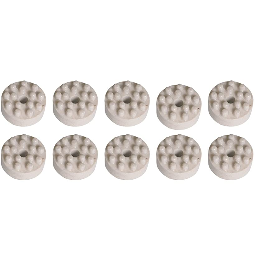 申し立てる降下ブローホール香立て 陶器ホワイト 10個セット
