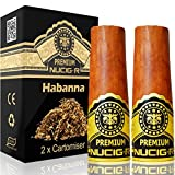 Habana Flavour   NUCIG-R Replacement Pack of 2 Filters   VG Premium Base   for NUCIG Rechargeable <span class='highlight'>Electronic</span> Cigar   Electric ecigar   e Cigar   Ecigarette   <span class='highlight'>Electronic</span> Cigarette   Electric Cigarette