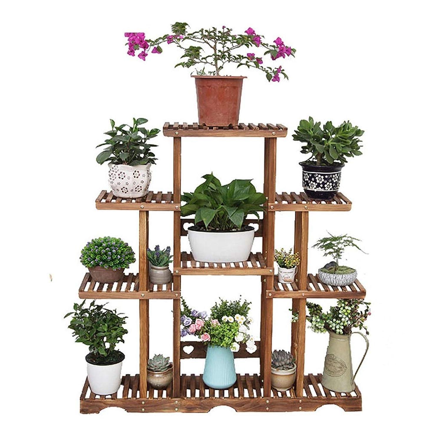 隔離事業食品木製の植物フレーム装飾フレーム屋内と屋外の花スタンド多層フロア収納棚ディスプレイスタンド防錆120×25×70センチ