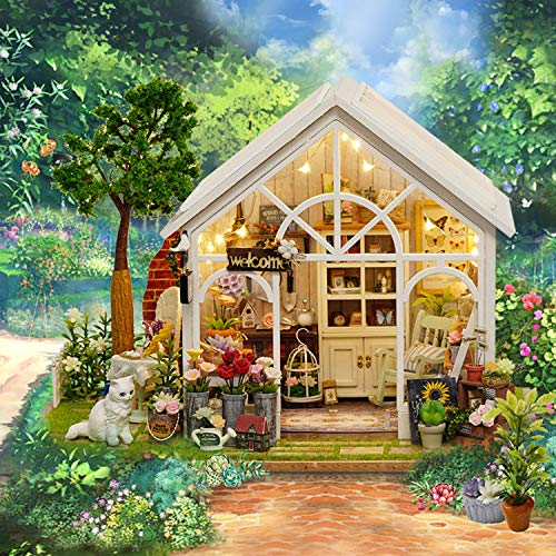 XCXDX Casa De La Flor De La Sol De La Cabina De DIY, Juguetes Modelo De La Casa De Muñecas, Ornamento Casero De La Decoración De Escritorio