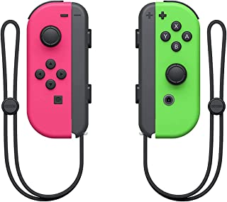 Nintendo Switch Joy-Con Controller, Neon Green / Neon Pink