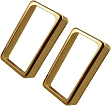 Timiy Electric Guitar Pickup Cover Accessories Open Frame Humbucker Pickup Cover 2Pcs (Gold)