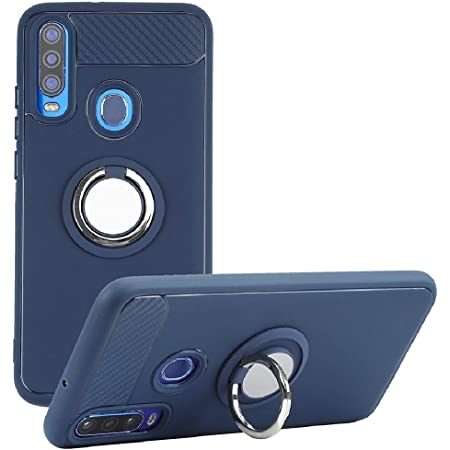 BLU G9 Pro Case, Rotating Ring [Magnetic Car Mount] [360°Kickstand] Holder [Fashion] Soft TPU Protection Cover Case for BLU G9 Pro (Blue)