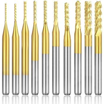 10x 3,175mm Hartmetall Schaftfräser 2 Flöte CNC End Mill Schneide Bohrer Fräser