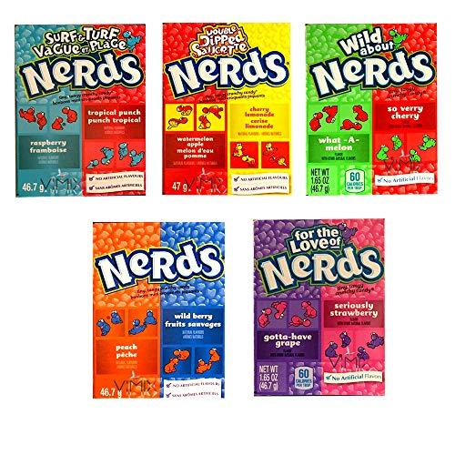 Wonka Nerds Süßigkeiten-Boxen, 5 Geschmacksrichtungen