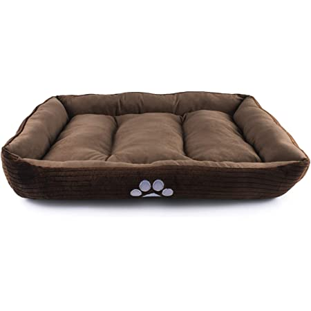 Petper Pet Self-Warming Bed, Dog Sofa Bed Paw Print