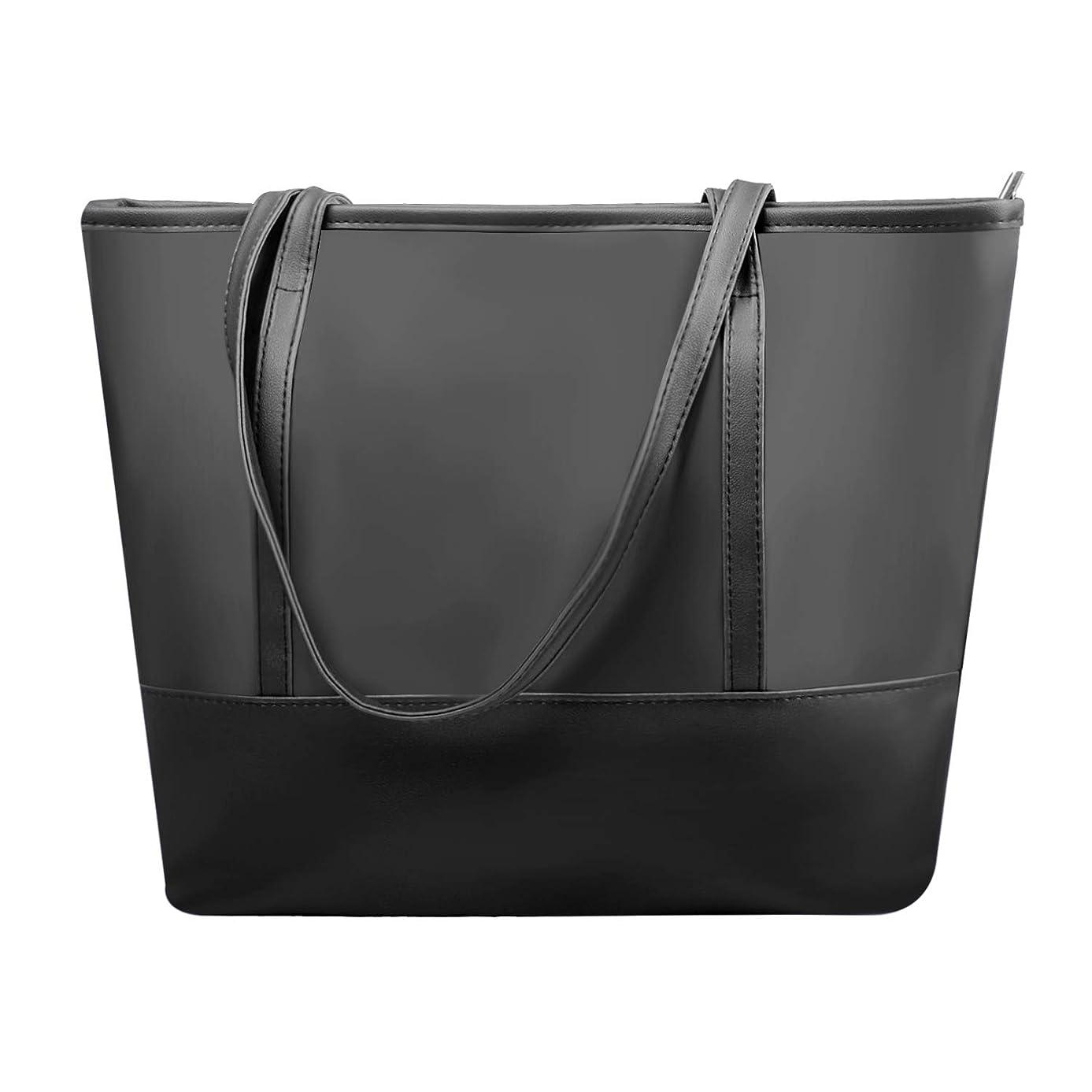 ZTOZ Laptop Tote Bag,Fits 14 Inch Laptop,Womens Lightweight Water Resistant Nylon Tote Bag Shoulder Bag (Black)