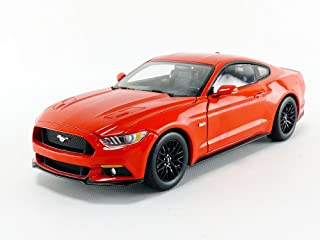 2016 Ford Mustang GT 5.0 Coupe Competition Orange Limited Edition to 1002 pieces 1/18 Diecast Model Car by Autoworld AW242