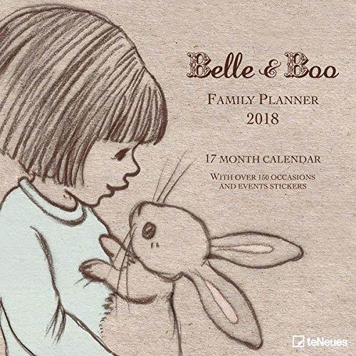 Belle und Boo 2018 Broschürenkalender: Kalender für Kinder im Broschürenkalenderformat