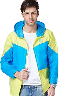 Summer Outdoor Sports Skin Windbreaker Sun Protection Clothing Men Blue Skin UP Fishing Suit Windproof Jacket Cloth (Color : Blue, Size : XL)