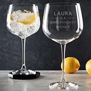 Engraved Gin Glasses Personalized for Her - Funny Gin Gifts for Women - Gin Lovers Gifts for Mom - Gin Drinker Gifts - alcohol Birthday Gifts for Women