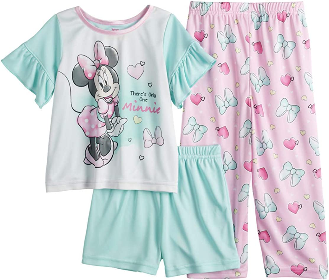 Minnie Mouse Toddler Girl 3 Piece Pajama Set - There's Only One Minnie -