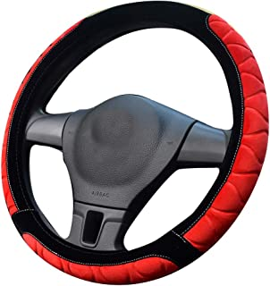 XiXiHao Winter Fuzzy Steering Wheel Cover for Women Girl Lady (red)