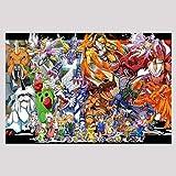 LDTSWES Anime Digimon Puzzle, 1000 Piezas Rompecabezas, para niños Desafío Mental Trabajo Manual Rompecabezas sin Marco