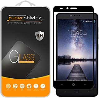 Supershieldz (2 Pack) for ZTE (Grand X Max 2) Tempered Glass Screen Protector, (Full Screen Coverage) Anti Scratch, Bubble Free (Black)