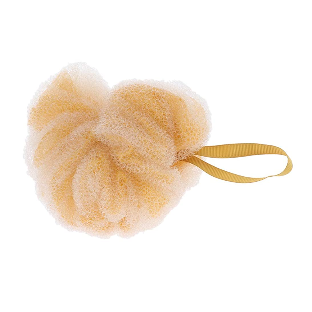 恒久的契約する涙浴用スポンジ バススポンジ ボディウォッシュボール シャワーパフ 角質除去 贈り物 全3色 - 黄