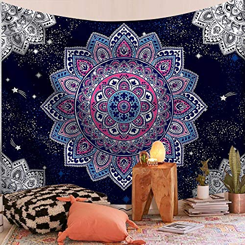 Tapiz de mandala indio montado en la pared, manta de playa, manta bohemia, decoración del hogar, tapiz, tela de fondo A16 130x150cm