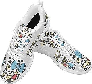Zenzzle Womens Running Shoes Mr Leopard Pattern Women's Casual Lightweight Athletic Walking Sneakers Size 6-12