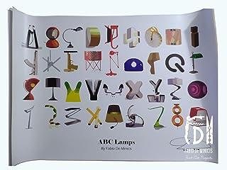 "Alfabeto ""ABC Lamps"" obra de Fabio De Minicis Póster tamaño 70 x 100 cm sin enmarcar"