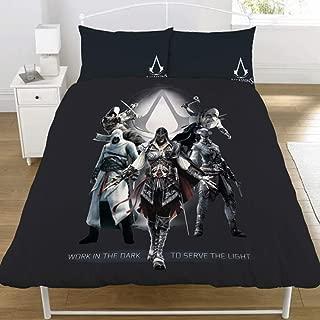 Assassin's Creed Serve The Light Duvet Set (Full) (Black)