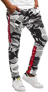 Triskye Sweatpants for Men, Camouflage Pocket Overalls Casual Pocket Sport Work Casual Trouser Pants