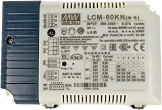 MeanWell LCM-60KN LED Driver CC 60 W regulable KNX y botón NO corriente constante seleccionable 500/600/700/900/1050/1400mA