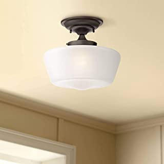 Schoolhouse Floating Ceiling Light Semi Flush Mount Fixture Bronze 12