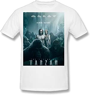 Flesiciate1 Men The Legend of Tarzan Film Poster Design Size L T Shirt