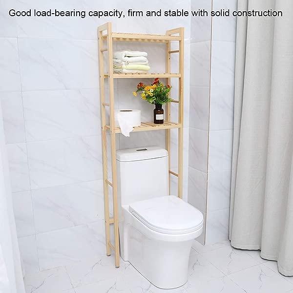 超过卫生间置物架 3 层木质浴室超过卫生间节省空间收纳柜置物架整理架