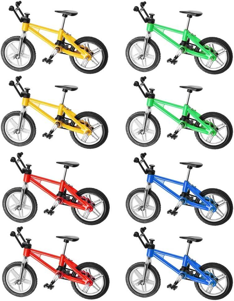 Abaodam 2 Boxes 8pcs Finger Alloy Bicycle Model Mini MTB BMX Fix