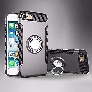 iPhone 5 5S SE Kılıf Yüzük Standlı Koruma Kabı + Apple İphone 5 5S SE Kırılmaz Cam Ekran Koruyucu