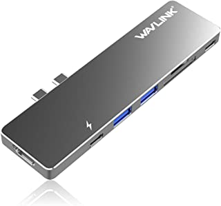 WAVLINK Aluminum Type-C Pro Hub Adapter with 40Gbs USB C/ 4K HDMI/Pass-Through Charging/SD/Micro SD Card Reader and 2 USB ...