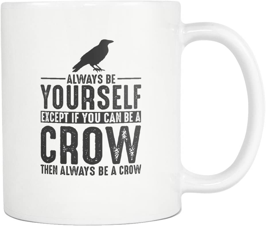 shopping Crow Coffee Mug Outlet SALE Funny Gift 11oz Tea Cup White