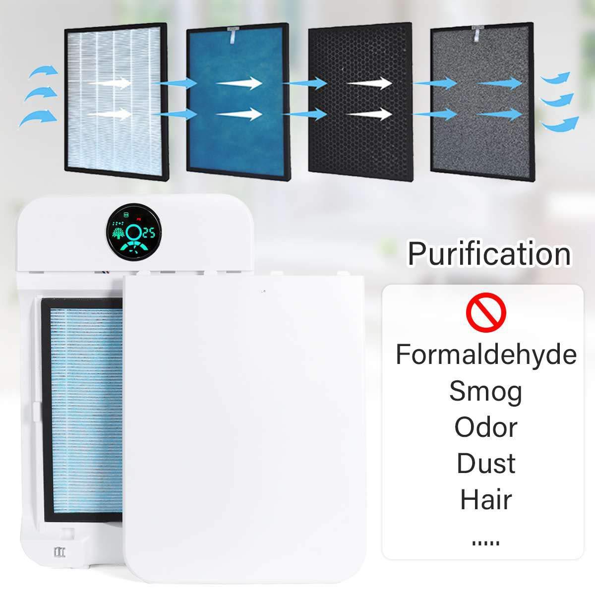 QWERTOUY Purificadores de Aire Pantalla LCD formaldehído ...