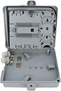 SANON Caja Terminal de Fibra Óptica Caja de Distribución de Fibra Óptica Ftth de 12 Núcleos Ip65