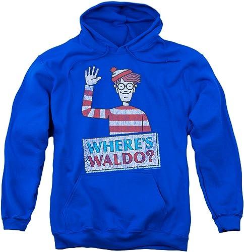 Wheres Waldo - - Sweat à Capuche Waldo Wave pour Hommes