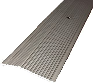 M-D Building Products 43858 M-D Extra Wide Fluted Carpet Trim, 2 in W X 36 in L X 0.3 in H, Pewter, Pack of 1