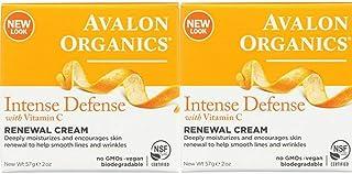 Avalon Organics Intense Defense with Vitamin C Renewal Cream, 2 oz (Pack of 2)