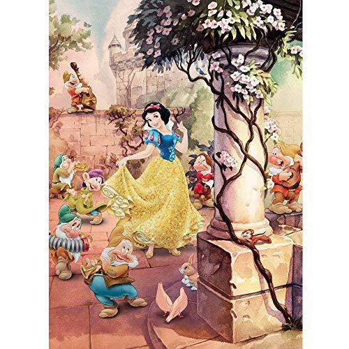 Komar 4-494 Fototapete Dancing Snow White, Bunt, 184 x 254 cm (Breite x Höhe), 4 Teile