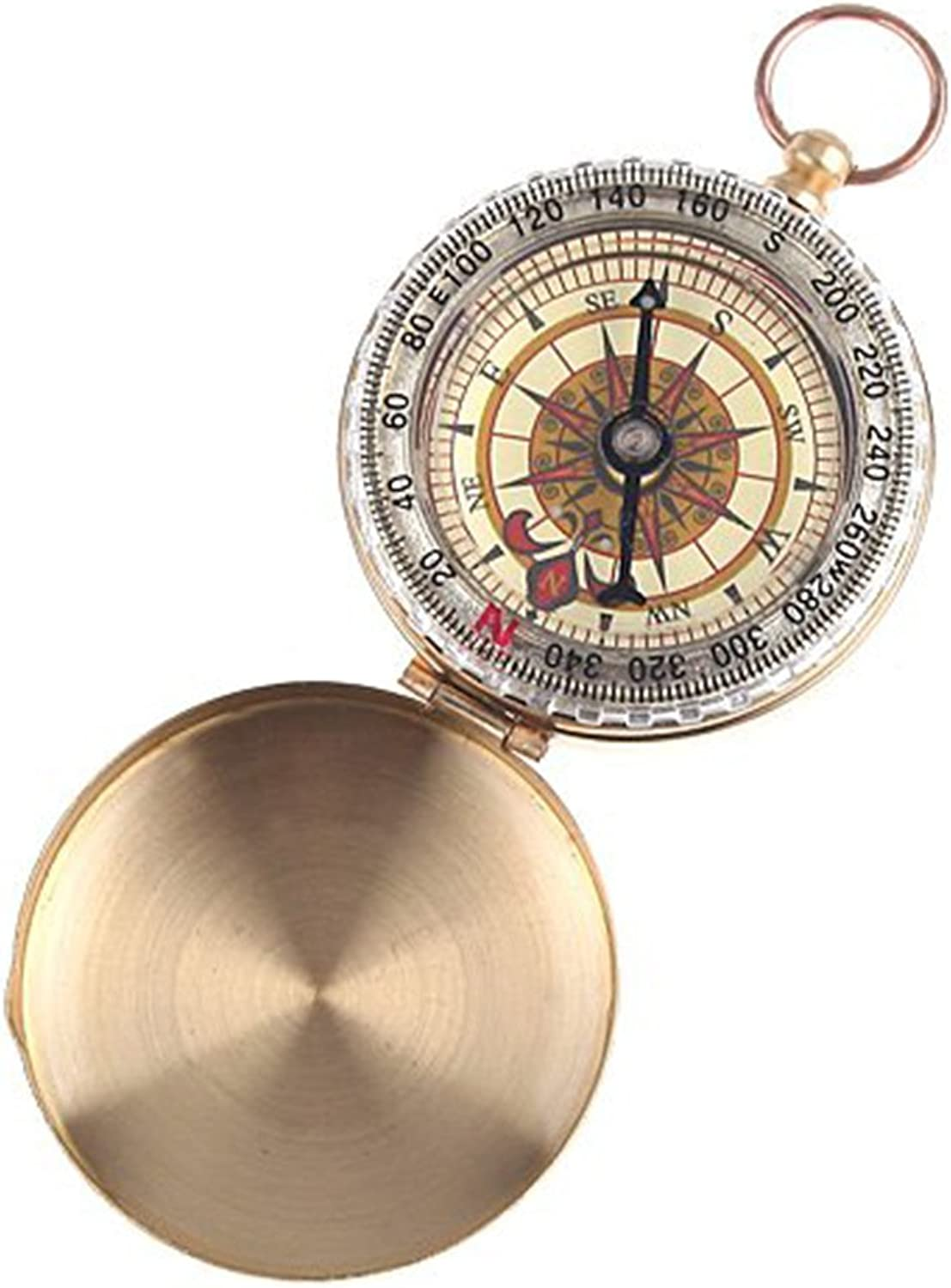 Heng Heng  Sale Old Fashion and Harmonious Classic Pocket Watch Style Bronzing Antique Camping Compass  HNGBG000441