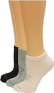 New Balance unisex-adult LAS03223 3 Pack Flat Knit No Show Socks Casual Sock