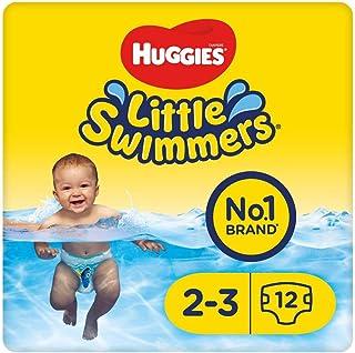 Huggies Little Swimmers Einweg-Schwimmwindeln für Babys und Kinder, Größe 2-3 3-8 kg, 12 Windeln, Unisex