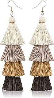 Czeskie frędzle kolczyki damskie kolor ręcznie robione wisiorek styl etniczny długie kolczyki biżuteria warstwy kolczyki f...