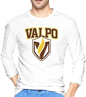 100% Cotton Man Valparaiso Crusaders VALPO Shield Logo Tshirts Long Sleeve